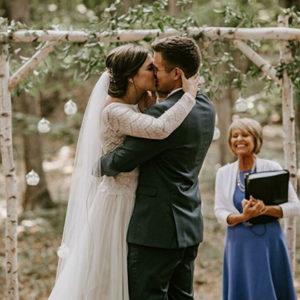 Kirsti and Trent's perfect wedding ceremony in Leelanau County