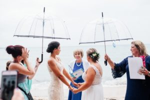 Certain details of an elopement ceremony took place even on a rainy day